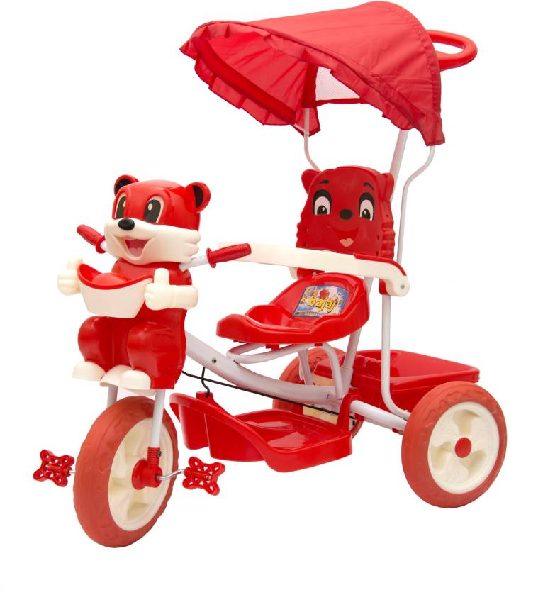 887e5ac302d Oximus Baby Tricycle for Kids with Front Back Basket, Canopy & Push Parent  Handle Recommended for Toddler ...