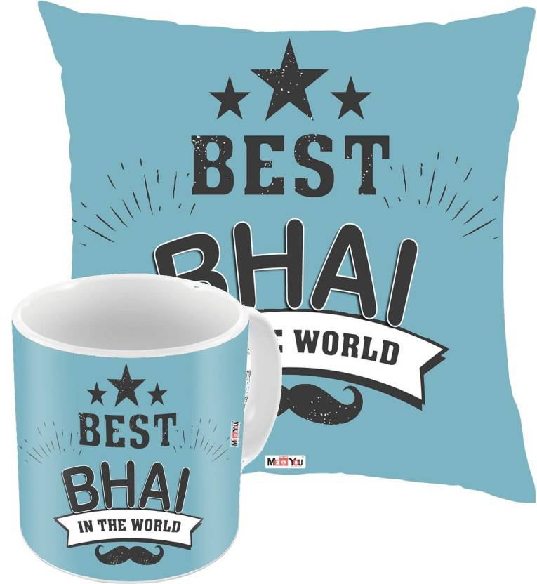 MEYOU Bhaidooj Gifts Rakhi Birthday Anniversary For Brother IZ18DTCM 508 Cushion Mug Gift Set Price In India