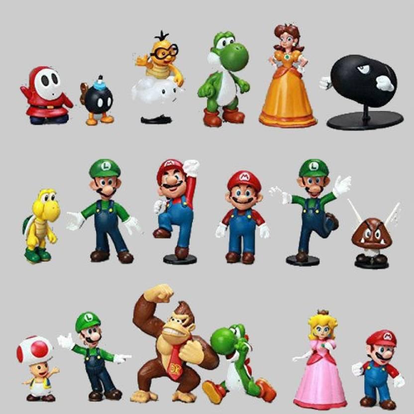 Shrih 18 Pcs Mario Luigi Toad Donkey Kong Yoshi King