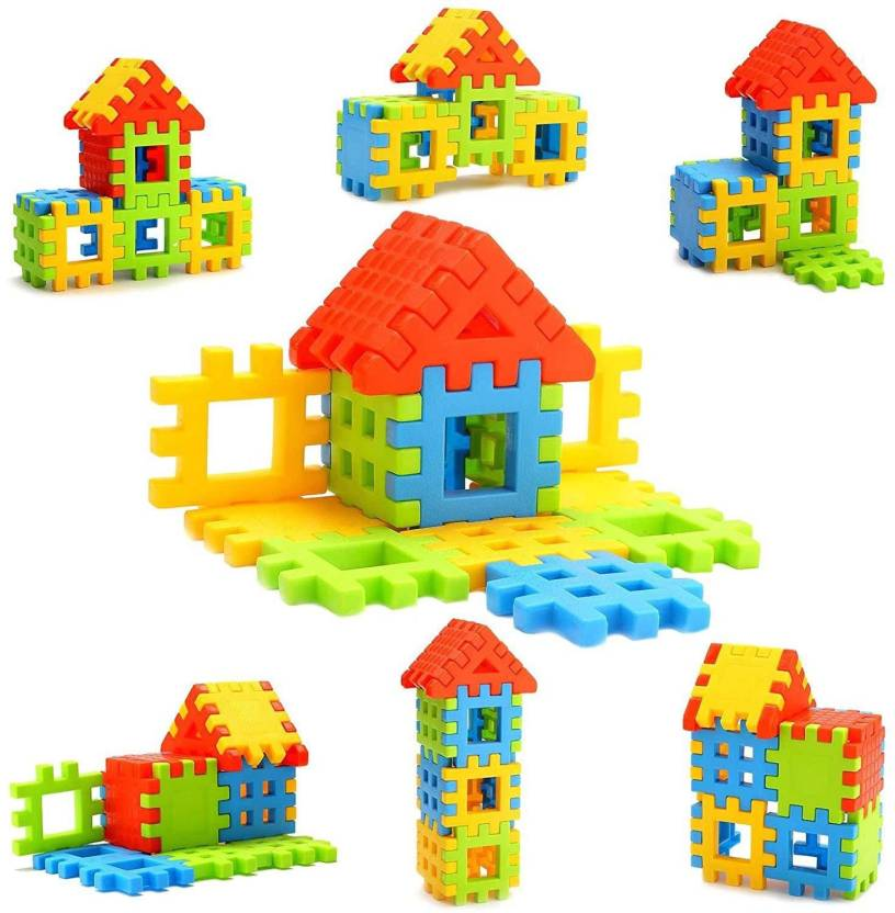 Effe Shoppe Jumbo Home Building Blocks - 38 Blocks Toy Set For Kids