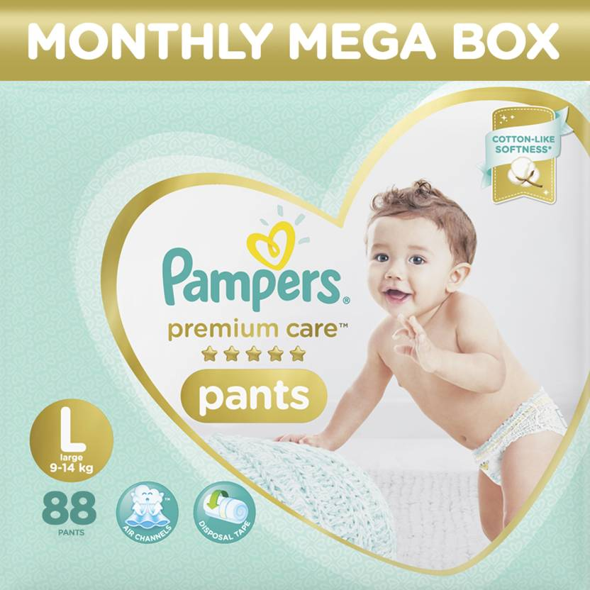 a0bcbdeb5c Pampers Premium Care Pants Diapers Monthly Box Pack - L - Buy 88 ...