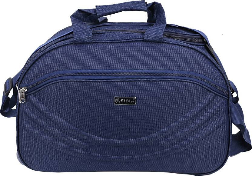 ff90fa0a1 SIBIA (Expandable) (Expandable) Unisex Polyester 40 litres Blue Travel  Duffle Bag Travel Duffel Bag (Blue)