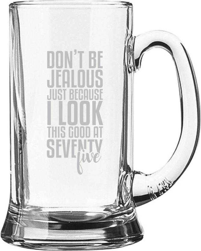 Giftsmate 75th Birthday Gifts Dont Be Jealous Engraved For Men