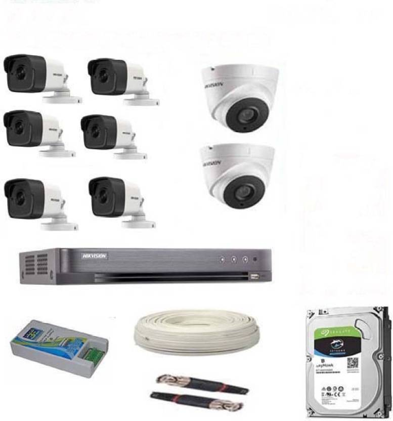 38b554d5cb3be Hik Vision FULL HD 5MP CAMERAS COMBO KIT 8CH HD DVR+ 8 BULLET CAMERAS +2TB  HARD DISC+ WIRE ROLL +SUPPLY   ALL REQUIRED CONNECTORS