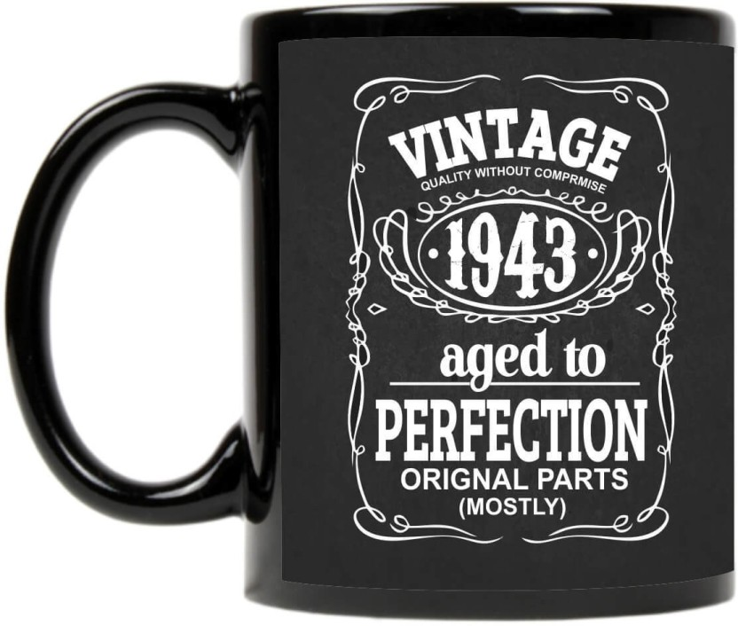 207 & Giftsmate 75th Birthday Gifts Vintage 1943 Printed Ceramic Coffee ...