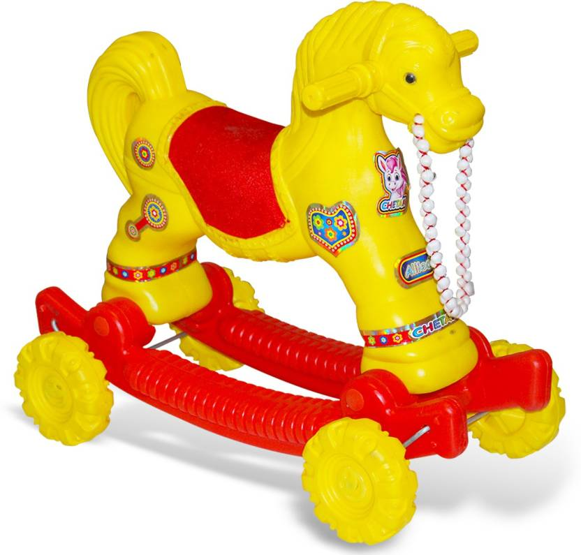 Akshat HORSE Rider Horse 2-In-1 Rocker Cum Ride-On Toy For Kids