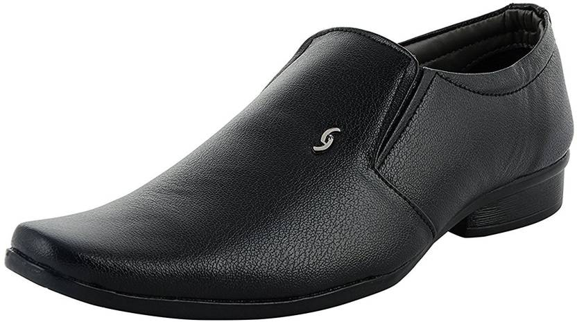 a743a21c363 GSTM Synthetic Leather Casual Office Use Wedding Formal Shoes For Mens And  Boys Slip On For Men (Black)