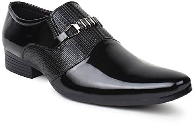 GSTM Synthetic Leather Casual Office Use Wedding Formal Shoes For Mens And  Boys Slip On For Men (Black) 82b6e72ad668