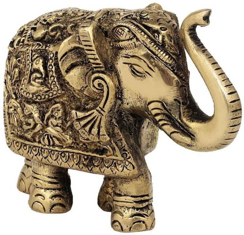 Art For Gifting Elephnats Turn Up Carving Antique Decorative