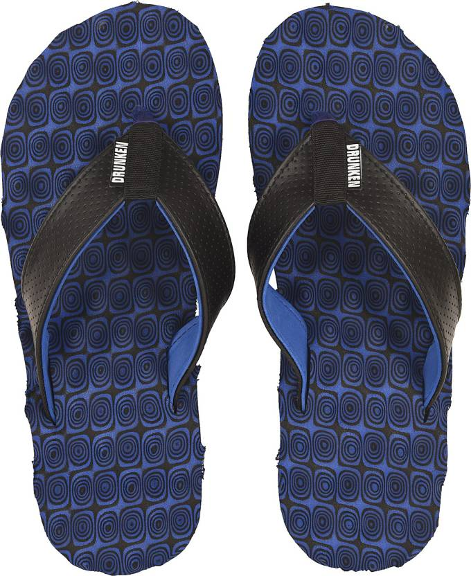 outstanding features cheap prices new varieties DRUNKEN Mens Acupressure Flip Flops Slippers Indian Size 6 (Blue,Black)  Flip Flops