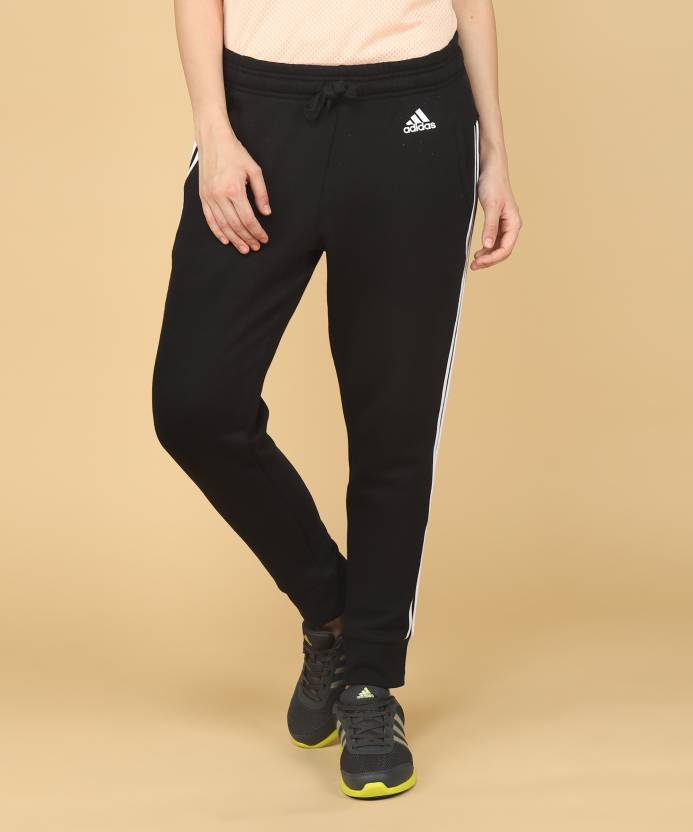 2f8d05679ea1 ADIDAS Striped Women Black Track Pants - Buy Black White ADIDAS Striped  Women Black Track Pants Online at Best Prices in India