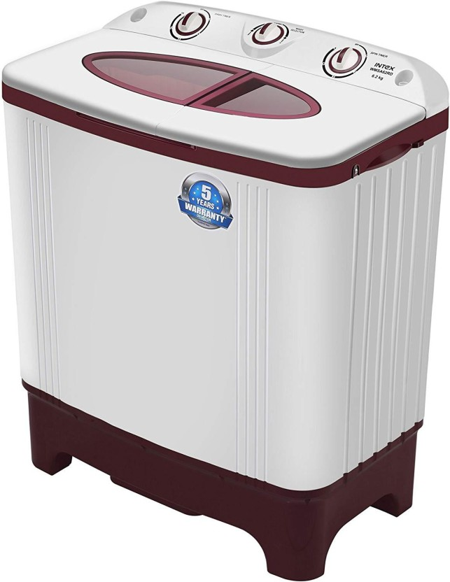 Intex 6.2 kg Semi Automatic Top Load Washing Machine Red