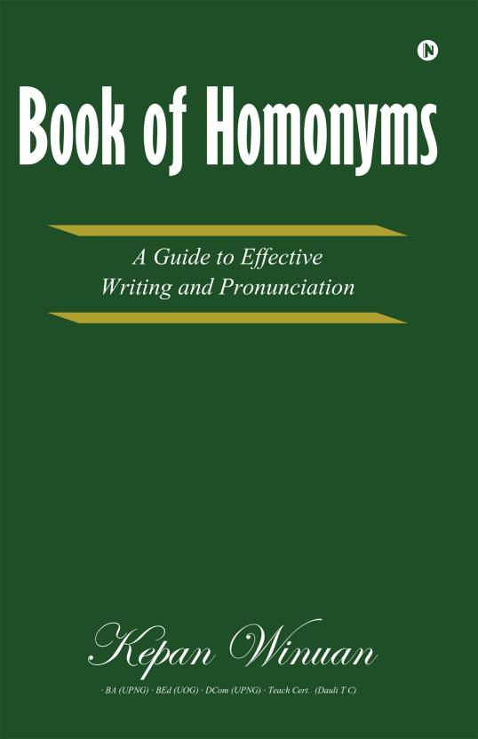 Book of Homonyms : Buy Book of Homonyms by Kepan Winuan at Low Price