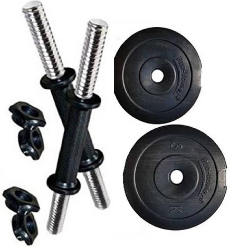 32baf53f3da Protoner PVC Adjustable Dumbbells Set (14 Kg) Home Gym Combo Price ...