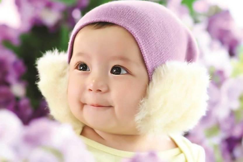 Pocute Korean Baby Smile Purple Hat Paper Print Children Posters