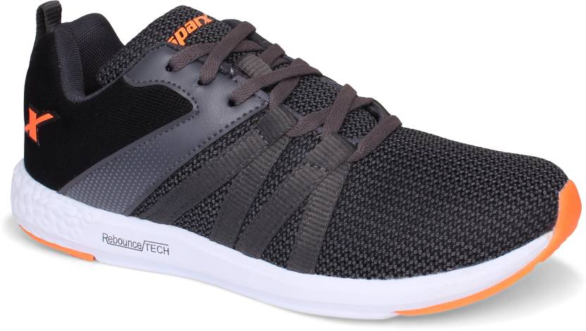 16c868f194dee Sparx Men SM-397 Dark Grey Fluorescent Orange Running Shoes For Men (Grey