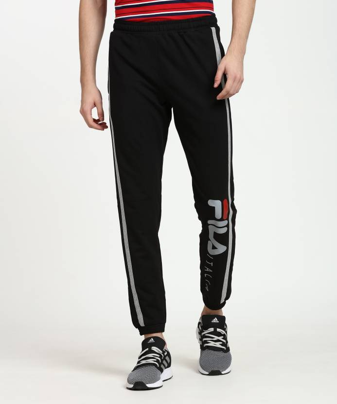 704f2d65c01a Fila Printed Men Black Track Pants - Buy Fila Printed Men Black Track Pants  Online at Best Prices in India