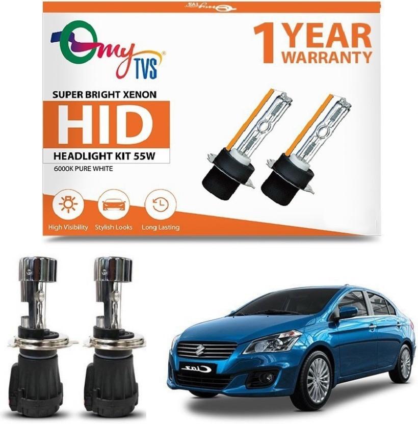 55w Super White Xenon HID Upgrade High//Low//Side Light Beam Headlight Bulbs