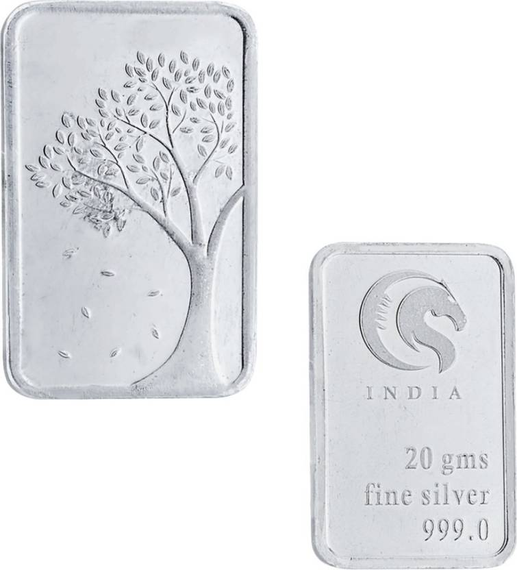 Jpearls Tree Silver Bar S 999 20 G Silver Bar Price In India Buy