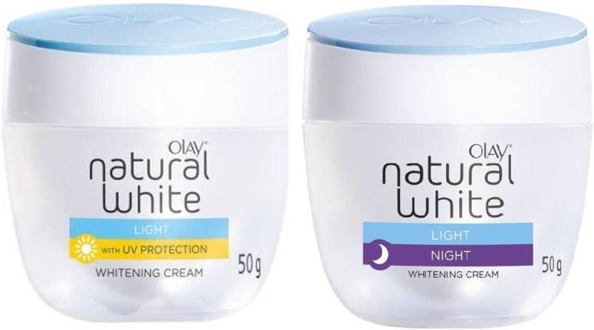 Olay Natural White Light (Day + Night) Whitening Cream 50g Each (Set of 2)