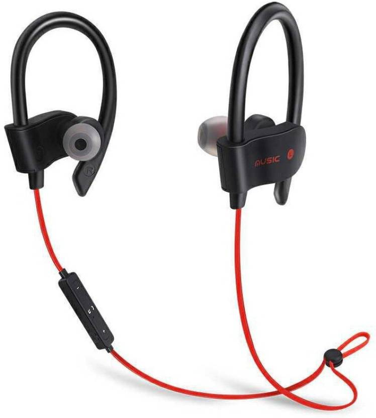 c73824509c7 CALLIE QC 10 bluetooth comfortable sport ,runing ,jogging Bluetooth Headset  with Mic (Red, In the Ear)