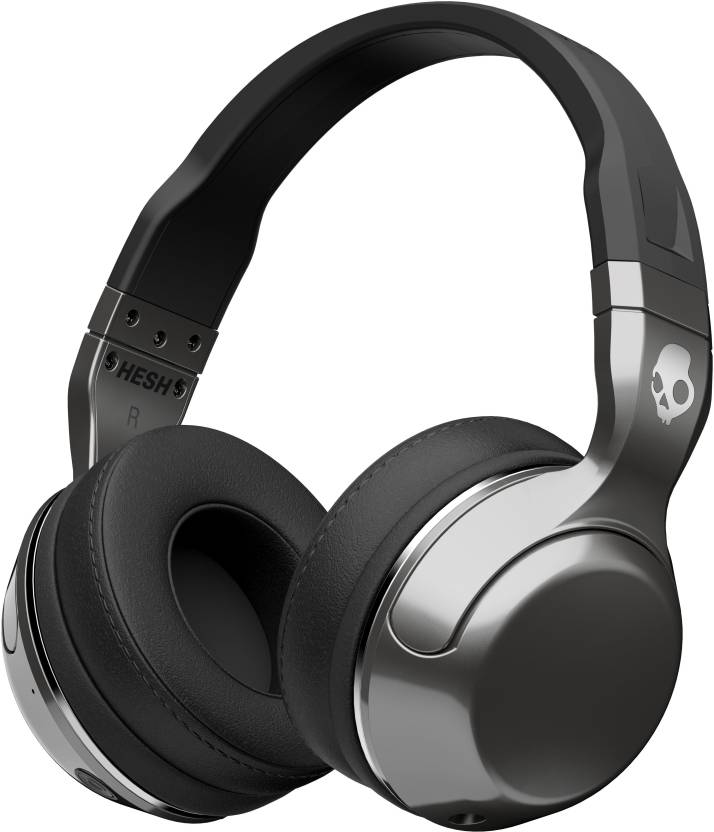 Skullcandy Hesh 2 Bluetooth Headset with Mic (Silver Black, Over the Ear) 030eb0f58d