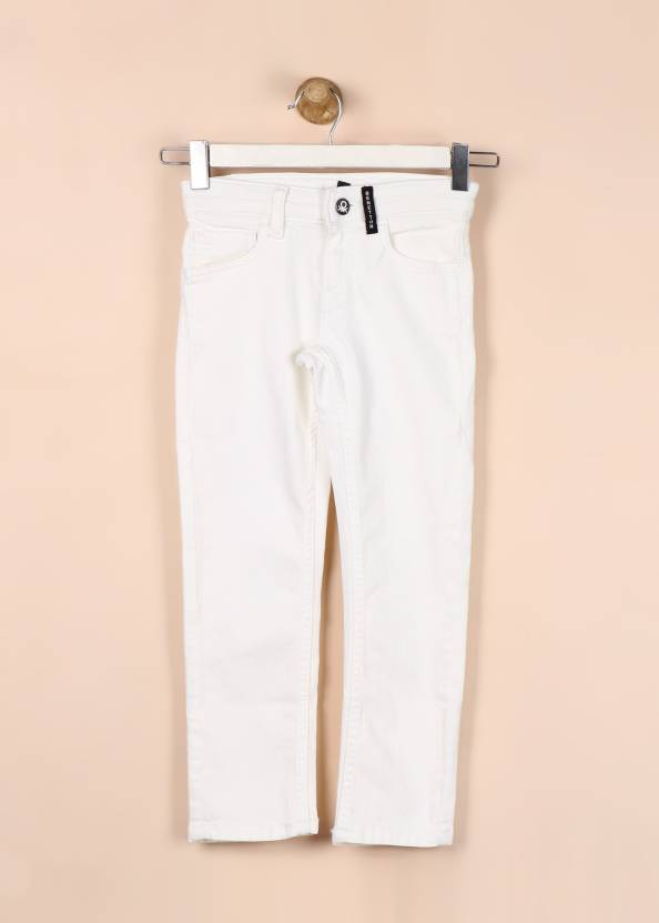 33094cf0bc United Colors of Benetton Slim Baby Boys White Jeans