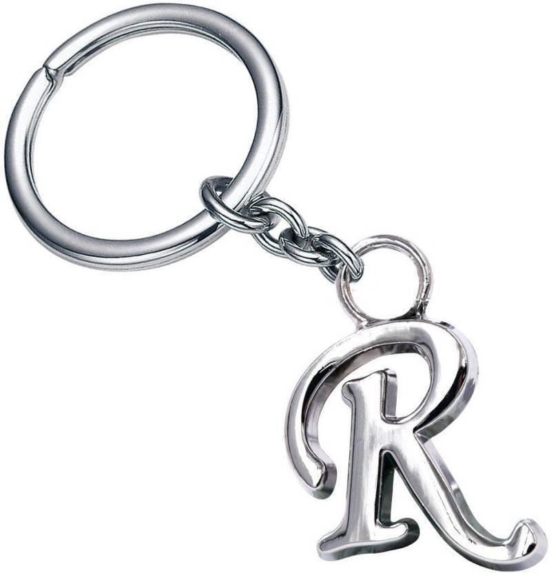 Jakha Alphabet Letter R Silver Metal Keyring for Men Women Boys Girls Car  Bike  0176095c1