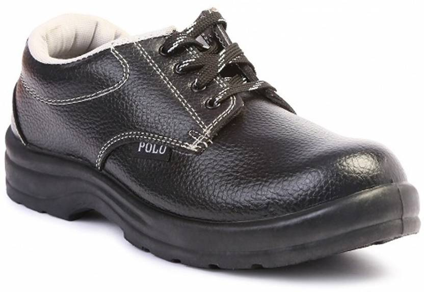 6a61950bef5a55 Polo Safety Shoes Casuals For Men - Buy Black Color Polo Safety ...