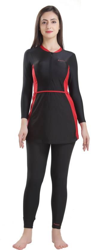 ROVARS Female Swimwear 2 Piece Full Body Suit Solid Women Swimsuit ... 16e5583cb