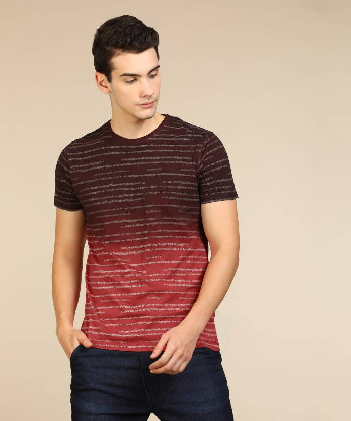a38f00db7e1 Lee Printed Men s Round Neck Red