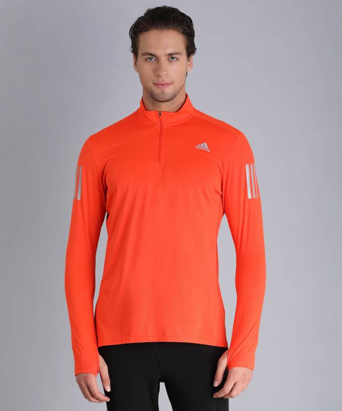 6c45a8e0ef1ff3 ADIDAS Solid Men's High Neck Orange T-Shirt - Buy ADIDAS Solid Men's High  Neck Orange T-Shirt Online at Best Prices in India | Flipkart.com