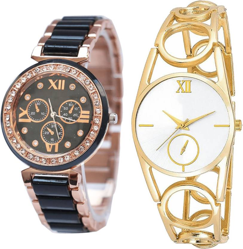 NEUTRON Treading Model Black And Gold Color Combo Watch
