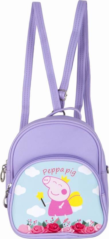 6512b8795f48 Shopigator Peppa Pig Kids Mini Handbag Cum 3 L Backpack Purple ...