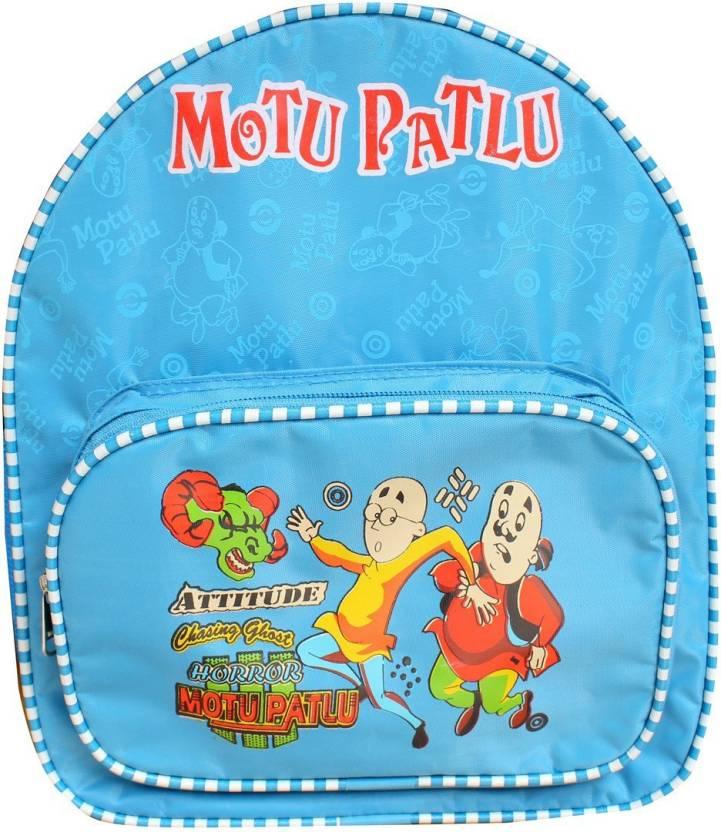 Hd Motu Patlu Nursery Lkg Ukg School Bag Waterproof School Bag Blue