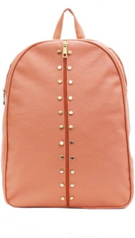 45535f0009 RANDA FASHION School bag  College bag  Travel bag  Stylish backpack  Latest  collection 21 L Backpack (Orange)