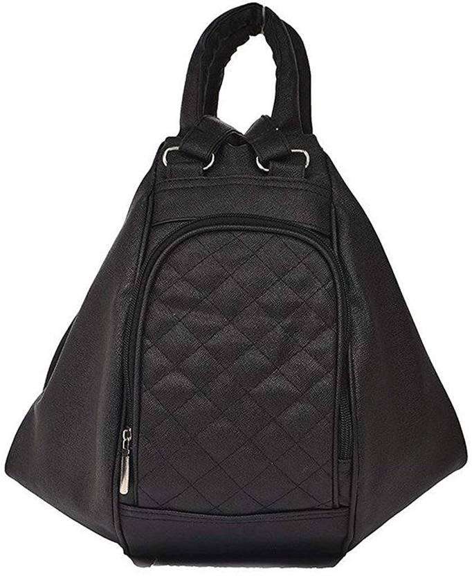 260f7355cf13 SK NOOR women s black backpack handbag ( New stylish Backpack) 8 L Backpack  (Black)