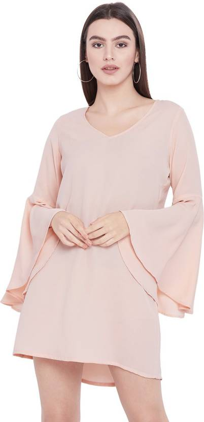 2affca2cf3e2 The Silhouette Store Women Shift Pink Dress - Buy The Silhouette Store Women  Shift Pink Dress Online at Best Prices in India