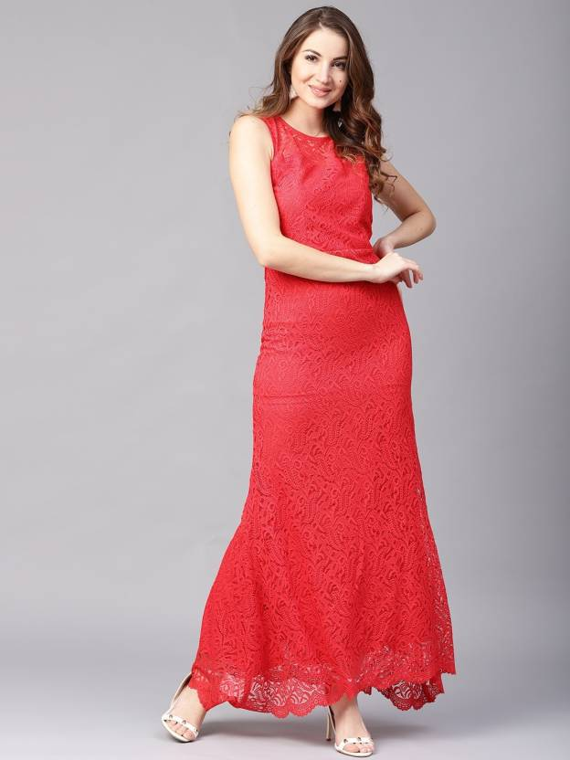 73ff4e4d7d69 Athena Women s A-line Red Dress - Buy Athena Women s A-line Red Dress  Online at Best Prices in India