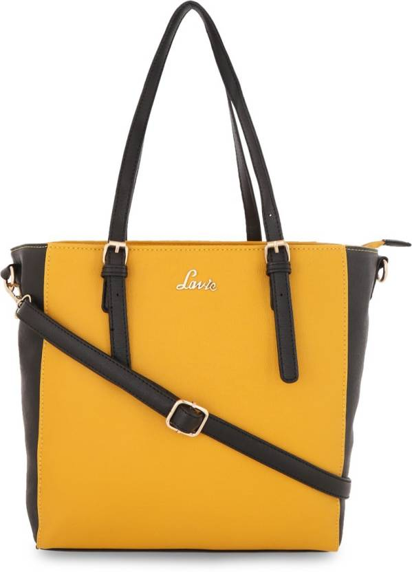 ed4fad82df Buy Lavie - Anushka collection Tote OCHRE Online   Best Price in India