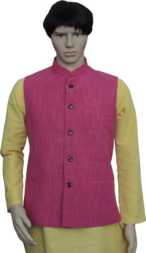 699fa13fe0f9 PUNEKAR COTTON KHADI Sleeveless Solid Men Jacket - Buy PUNEKAR COTTON KHADI  Sleeveless Solid Men Jacket Online at Best Prices in India