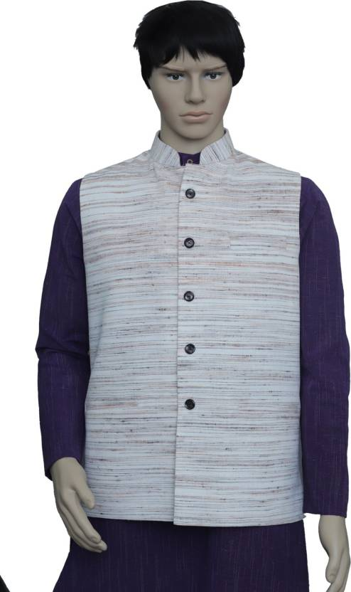 0dcaa8062ac3 PUNEKAR COTTON KHADI Sleeveless Self Design Men Jacket - Buy PUNEKAR COTTON  KHADI Sleeveless Self Design Men Jacket Online at Best Prices in India ...