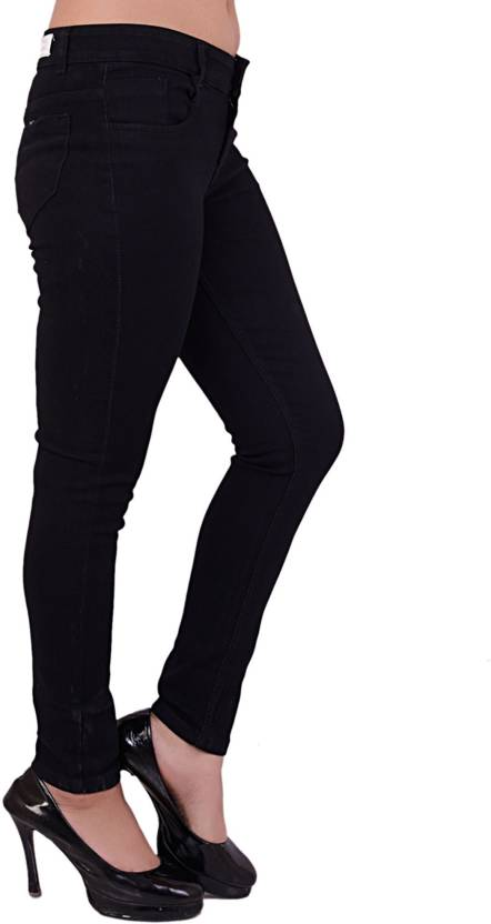 13cac304df179e Smart Girl Skinny Women's Black Jeans - Buy Smart Girl Skinny ...