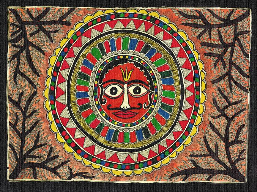 Clickplick Madhubani Print Painting Canvas Painting Price in India