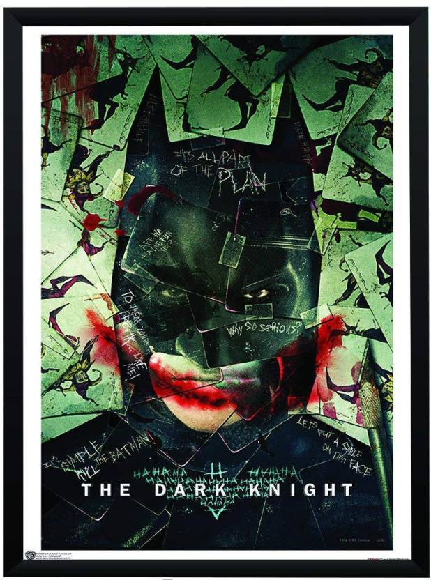 Wb Official Licensed Dark Knight Batman Joker Poster A3 13