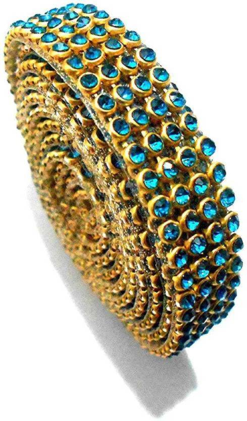 37b4955a291b BestVBuy Stone lace turquiose blue 4-line full length 1.25 meters for  bangles jewellery decoration - Stone lace turquiose blue 4-line full length  1.25 ...