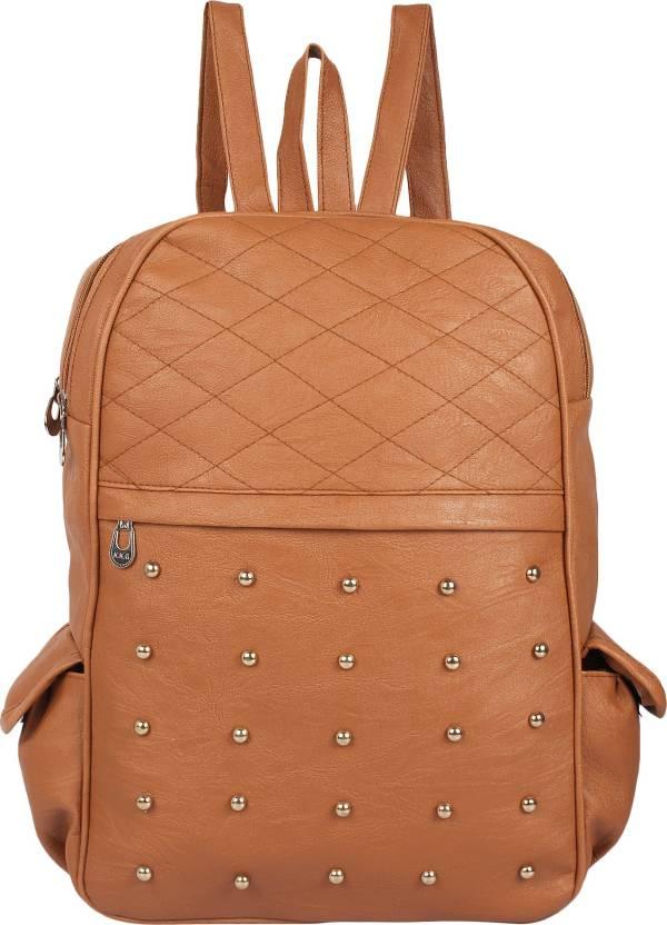 89e1d3f8faca Rajni Fashion PU Leather Backpack School Bag Student Backpack Women Travel  bag Tuition Bag 8 L Backpack (Brown)