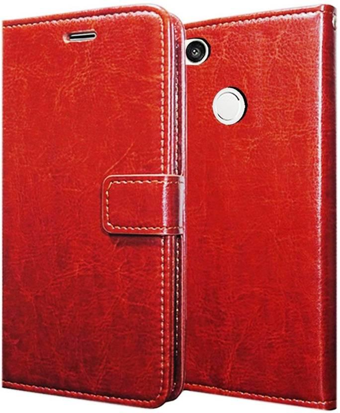 san francisco 3ff37 82733 ANVIKA Flip Cover for Vitage Leather Flip Wallet Card Holder Flip ...