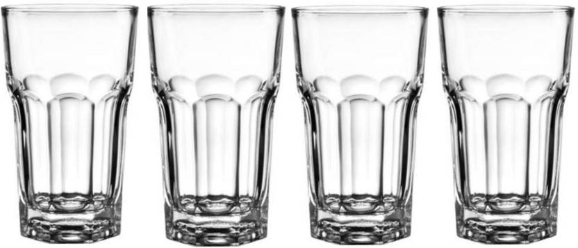Frabjous Clear Glass Made Water Glasses Juice Glasses 330 ML