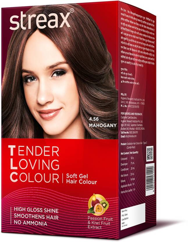 Streax Tender Loving Soft Gel Hair Colour Mahogany Hair Color ...